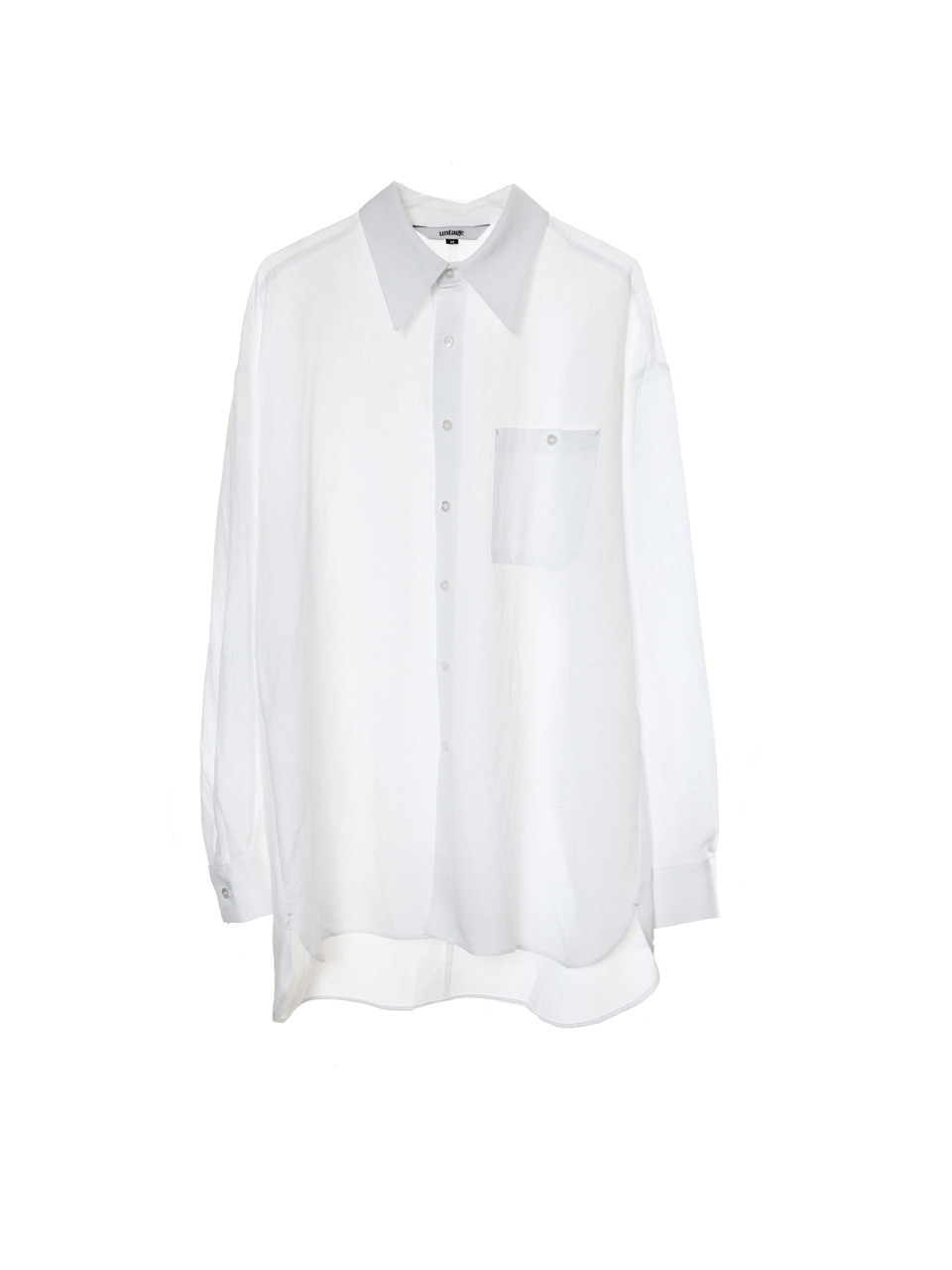 retro linen over-fit shirts(white)