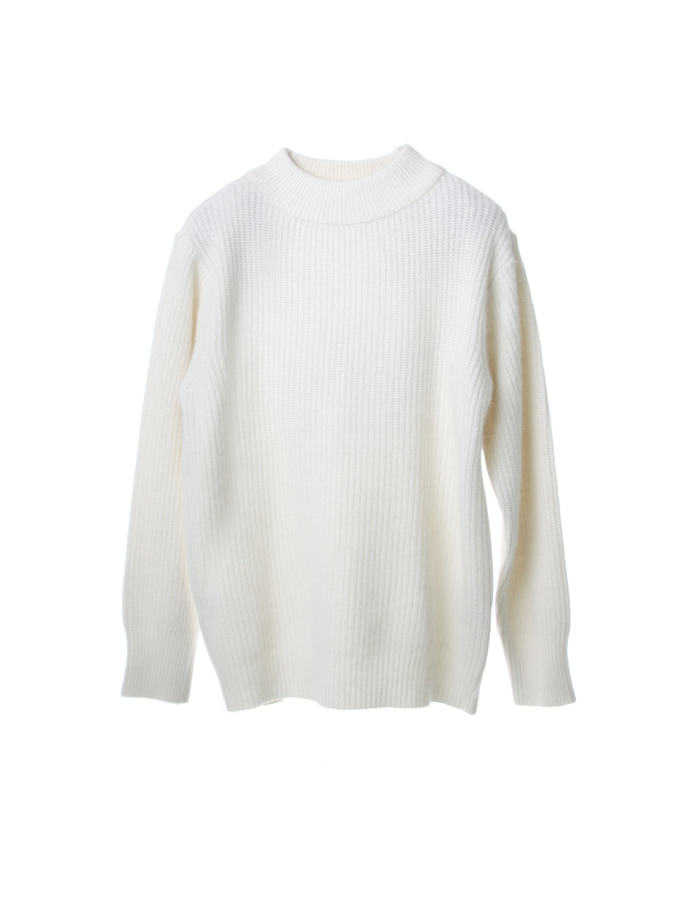 UTW-FC08 angora high neck knit[white(UNISEX)]