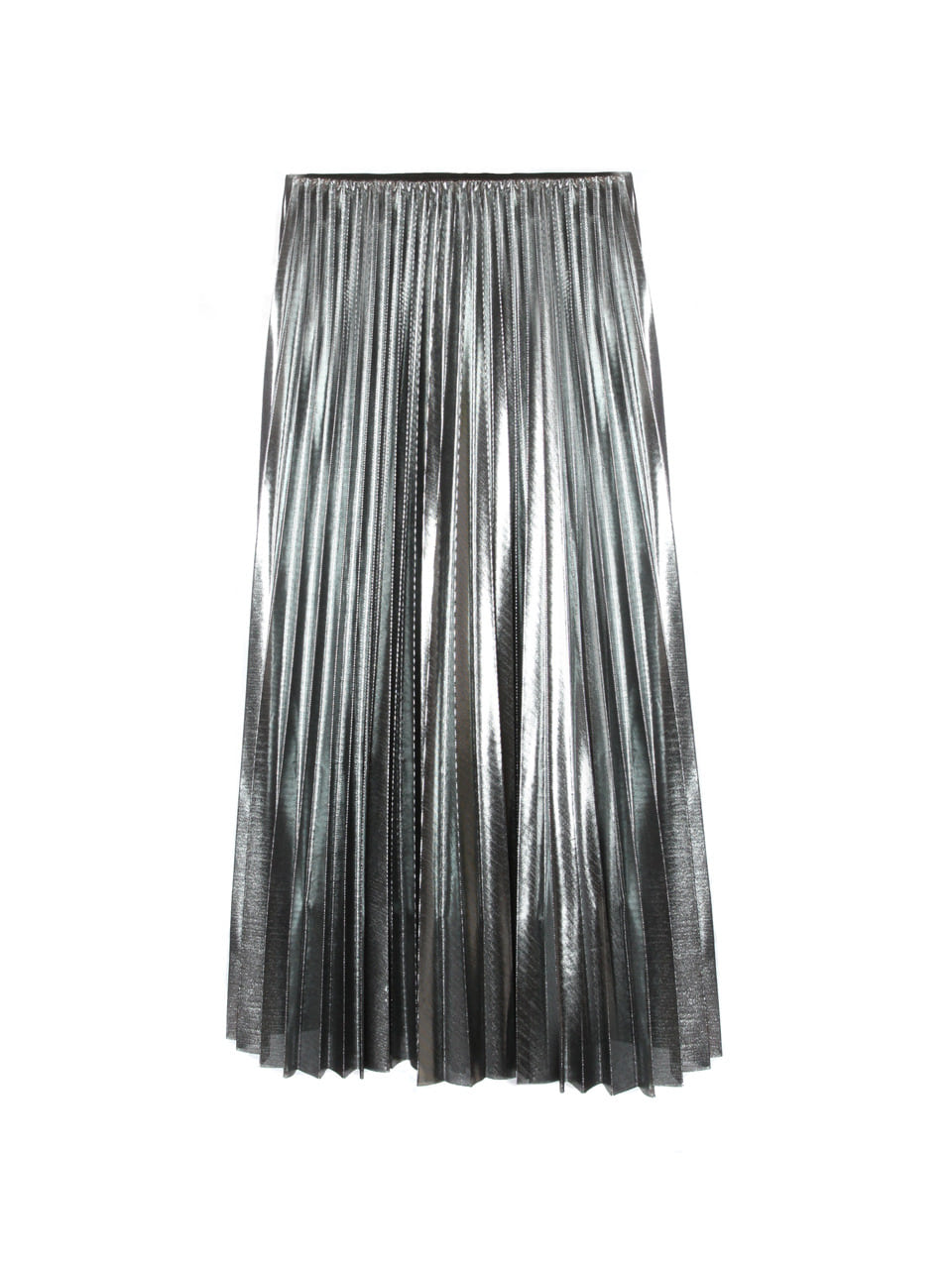 silver glitter pleat skirt