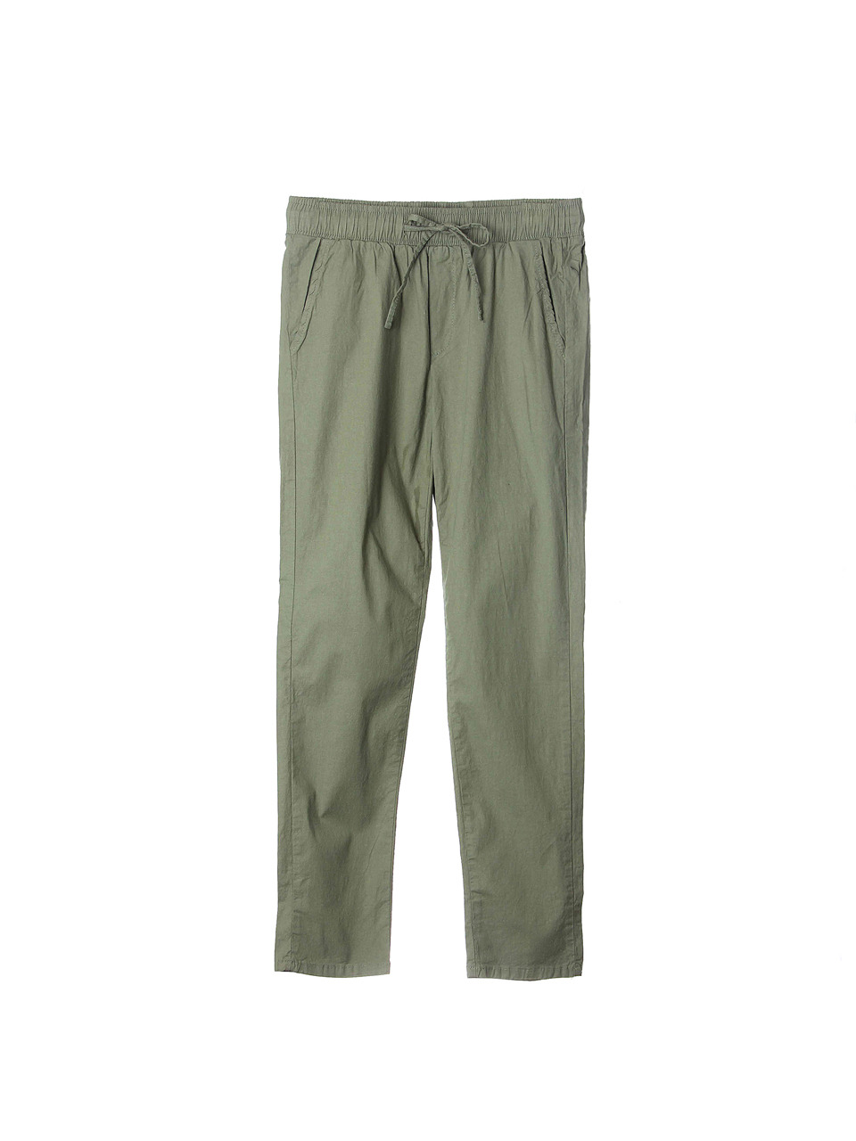 khakie linen straight pants