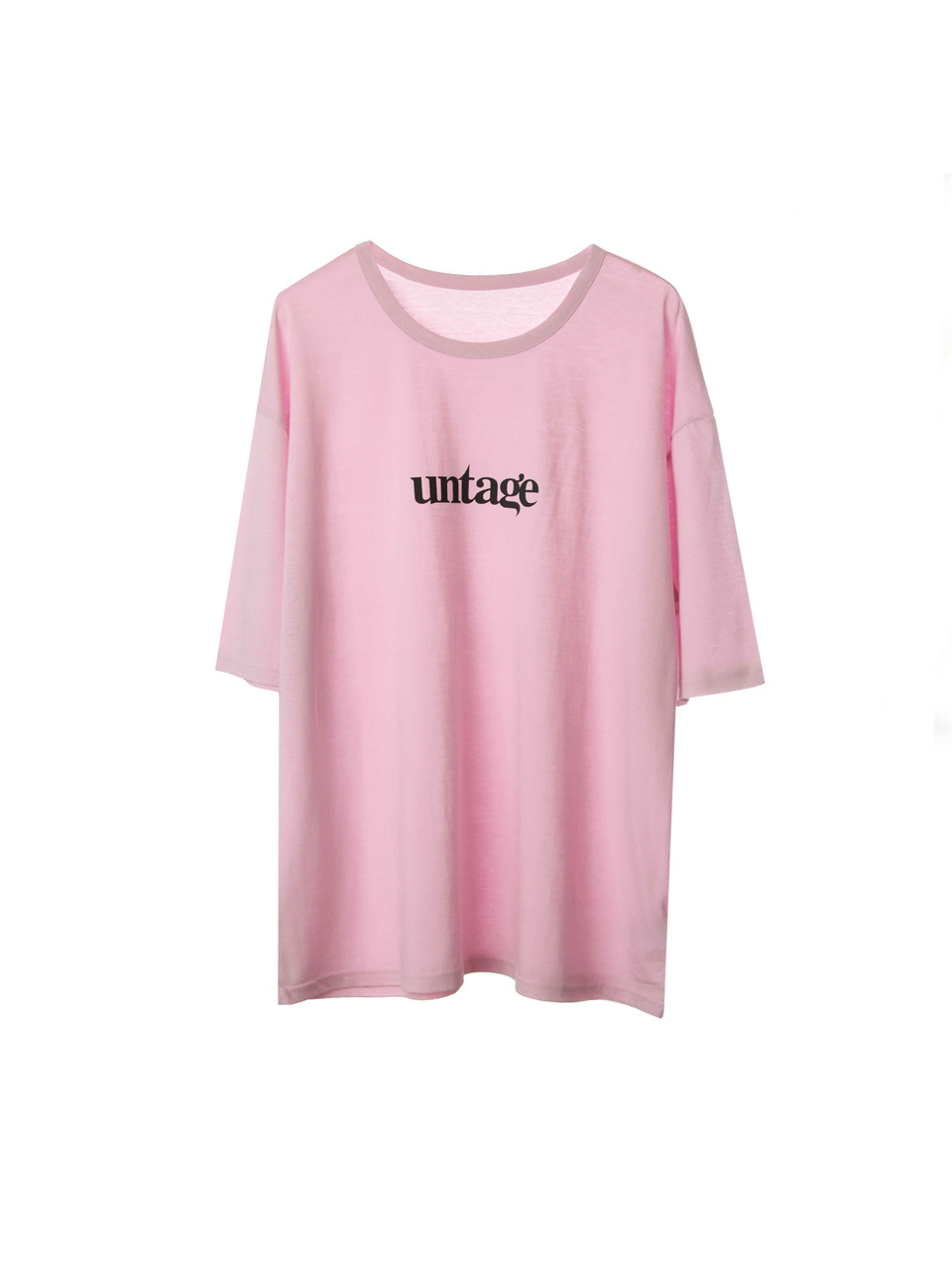 pink tencel over fit t shirts