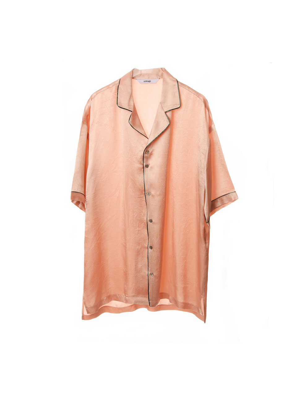 pink artificial silk over-fit shirts