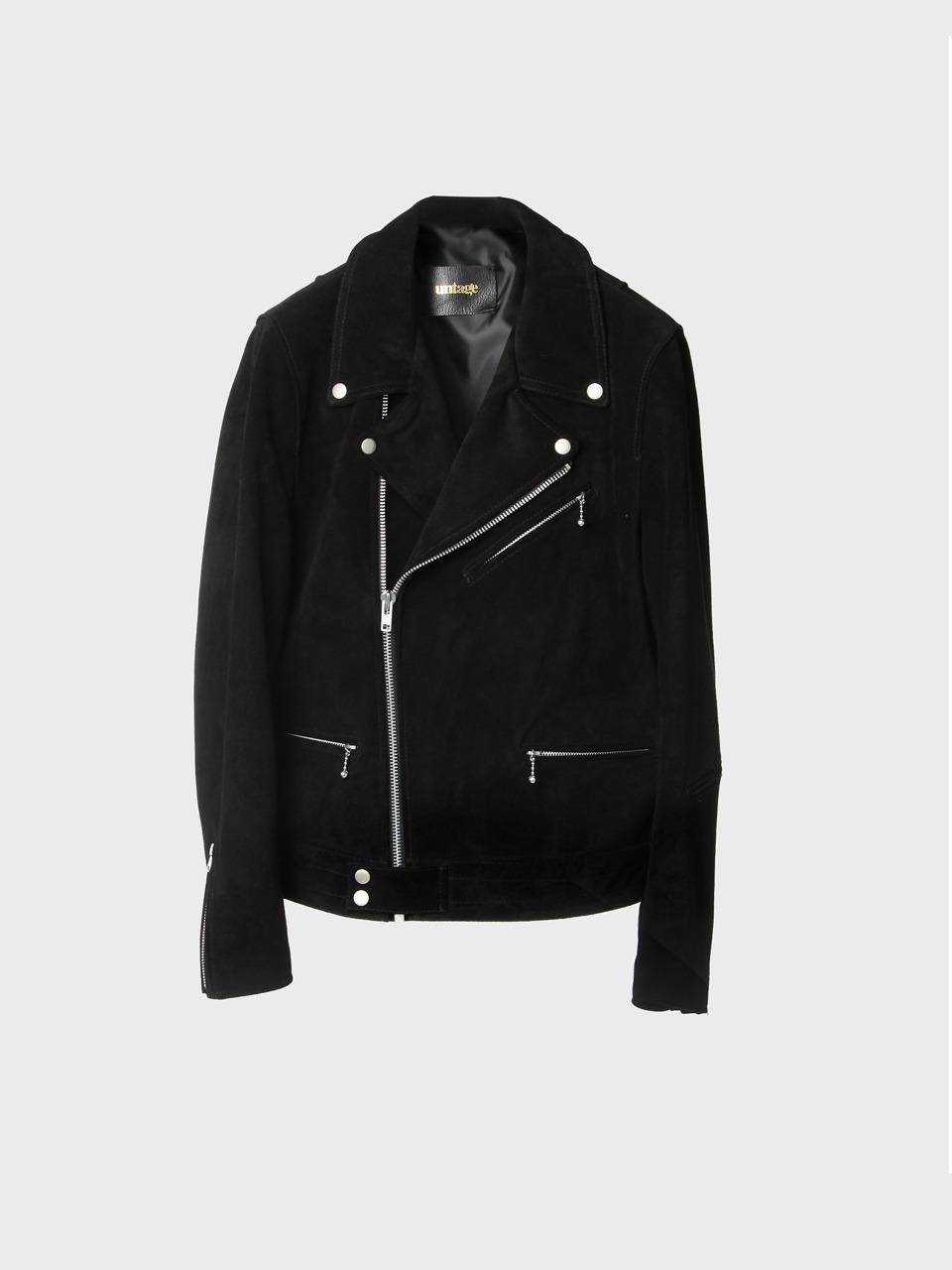 pitch black nubuck rider jacket