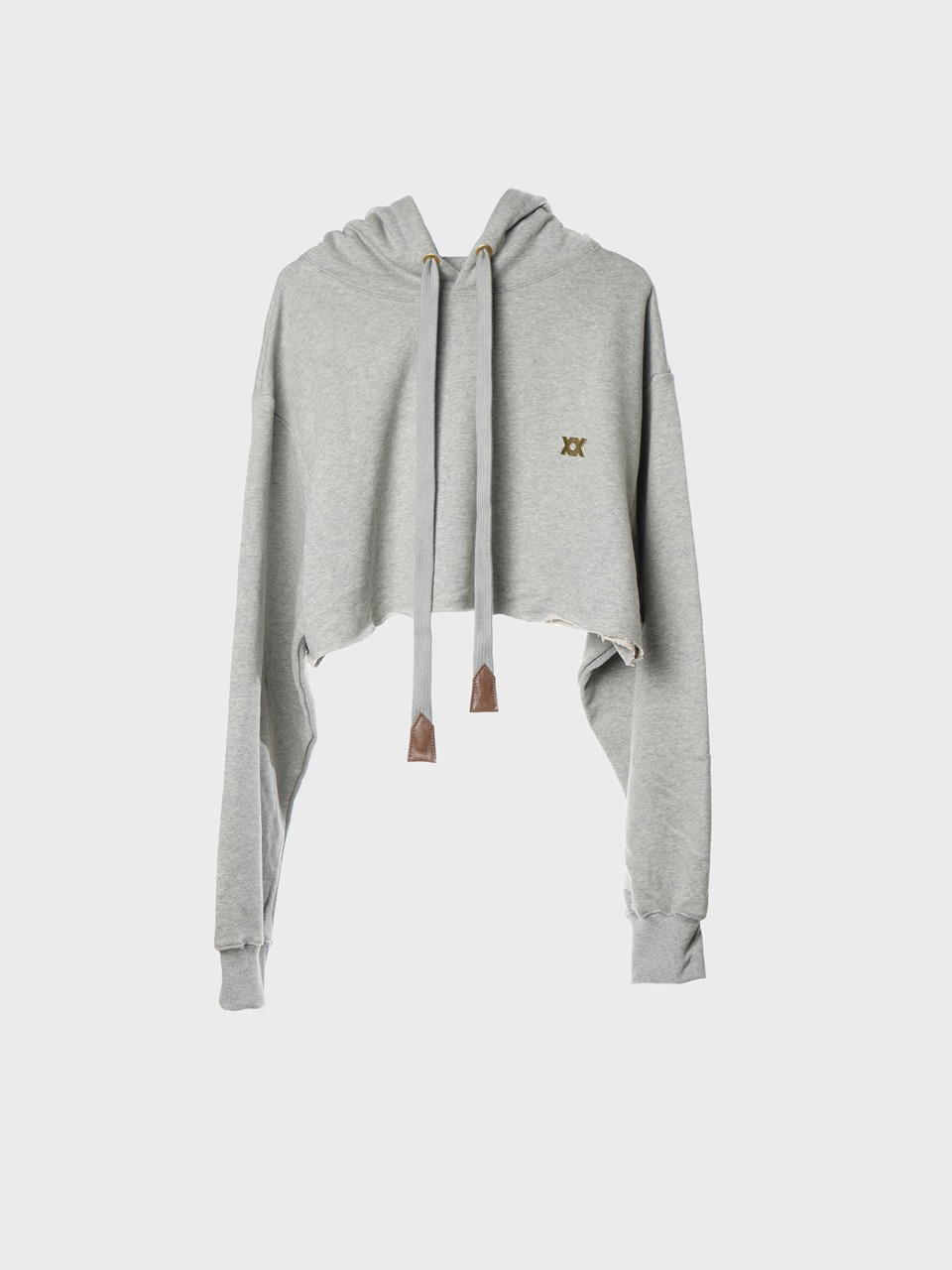 Teen Love Crop Hoodie (grey)