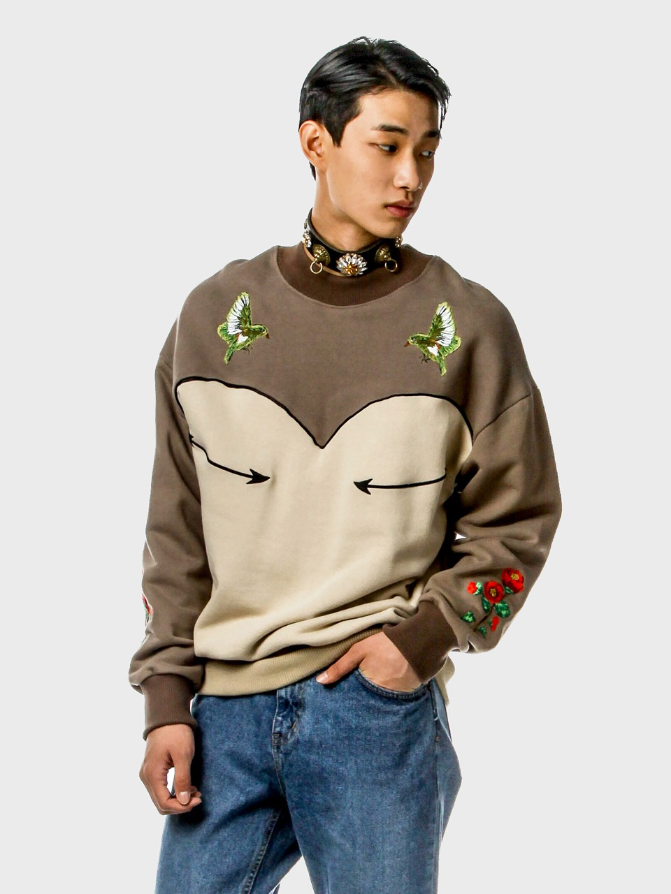 embroidery western sweat shirts