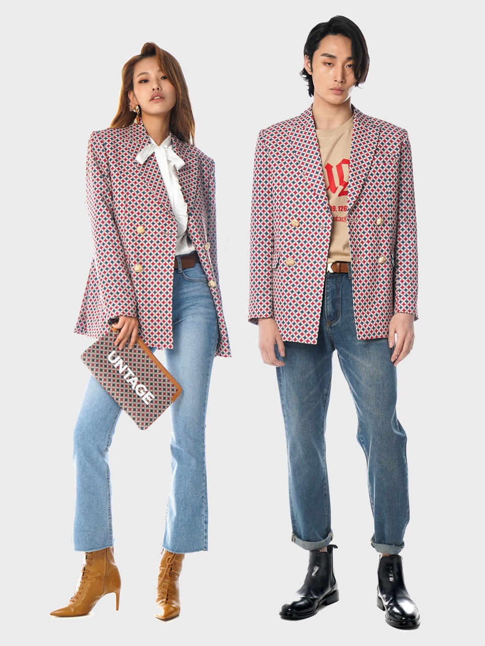 retro B double blazer