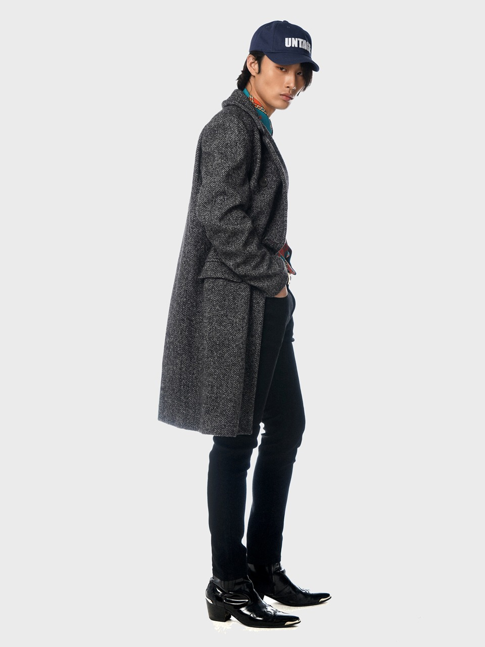 herringbone double coat