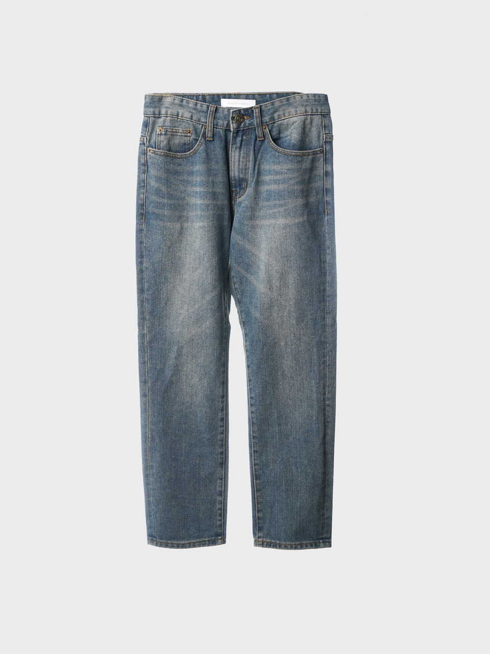cat brush straight denim pants